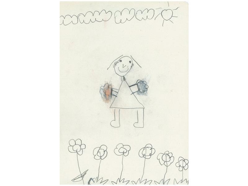 64ce8762a02 ... nakreslila nejvíce vizuálně realistického tatínka – je to jediná kresba  s krkem. U své kresby seděla nejdéle ze všech dětí a pořádně ji  vyšperkovala