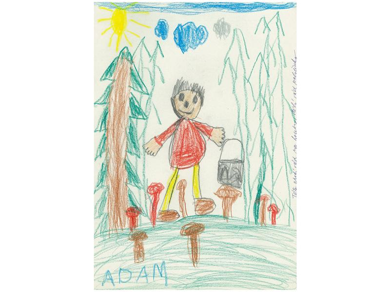 c24367270f0 Adamova představa táty jako vesele si vykračujícího v lese a vybírajícího  do košíku ty správné houby poukazuje ke zdravému vnímání autority otce.